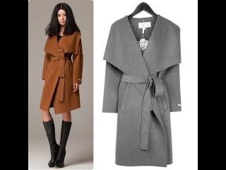 Демисезонное пальто с воротником