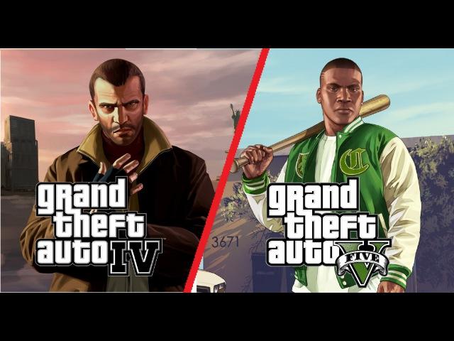 GTA V vs GTA IV Bugs (PC, Max Settings)