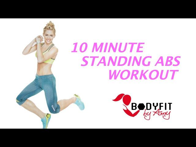 BodyFit by Amy - Standing Abs No Crunch Workout | Тренировка живота в положении стоя
