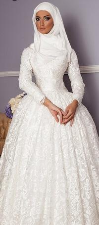 Мусульманская свадебная платья