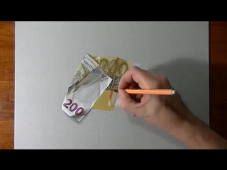 How i draw a 200 euro banknote