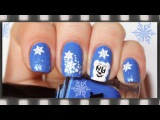Маникюр на Новый год. Арт дизайн ногтей Мишка | Polar Bear Winter Nail Design