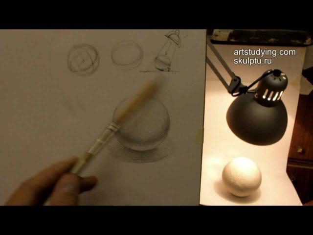 Обучение рисунку. Введение. 7 серия: шар и светотень