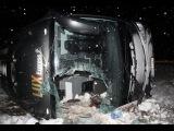Россияне попали в ДТП в Эстонии: Перевернулся Автобус 30 01 2016 Срочные Новости России Мира Сегодня