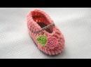 Вязание крючком. Пинетки для новорожденного. VERY EASY Baby Slippers