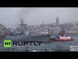 Турция: Украинский военный корабль прибыл, чтобы забрать военную технику.