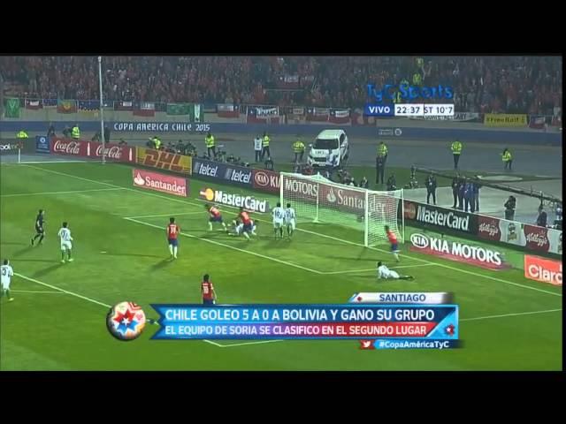 Aranguiz goal • Chile vs Bolivia 5-0 | Copa America 2015 | All Goals | HD