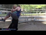 Alison - Muscle Girl Lift And Carry
