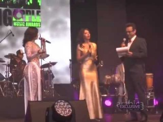 The One and Only Diva Haifa Wehbe being awarded in BAMA-Germany