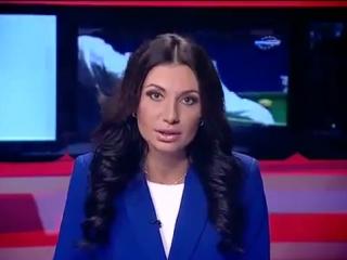 Ведущая новостей говорит скороговорки