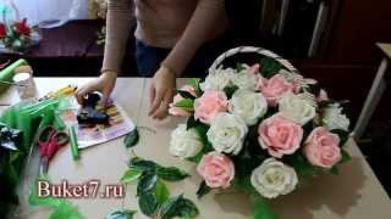 Мастер класс Букет из конфет Корзина с розами своими руками