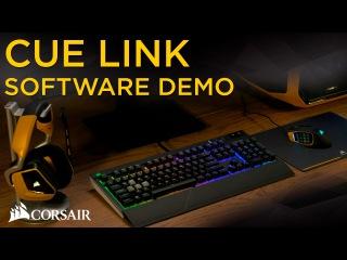 Corsair CUE Link RGB software demo