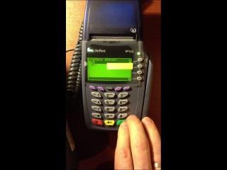 оплата банковскими картами в POS-терминале Verifone 510