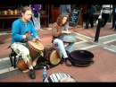 Djembe Hang Drum buskers on Grafton St. May10th '11