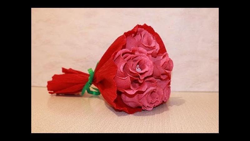 Букет из конфет - Розы из конфет