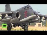 Сирия: Сухой самолеты продолжают бить боевиков цели из Латакия авиабазы.