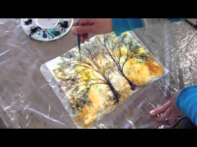 How to: Batik Style watercolor painting technique with Kozo Washi