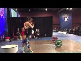 Jessica Lucero American Record Snatch - 92kg at 58kg Bodyweight - 2015 American Open