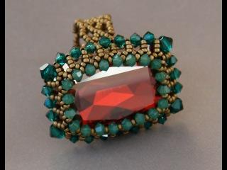 Sidonia's handmade jewelry - How to bezel a 27x18,5mm Swarovski square cabochon