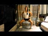 Приседания плие (сумо) без веса. Как накачать ноги и попу дома и похудеть.