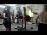 Каразия Сергей жим 155 кг на 2 , 3 подход