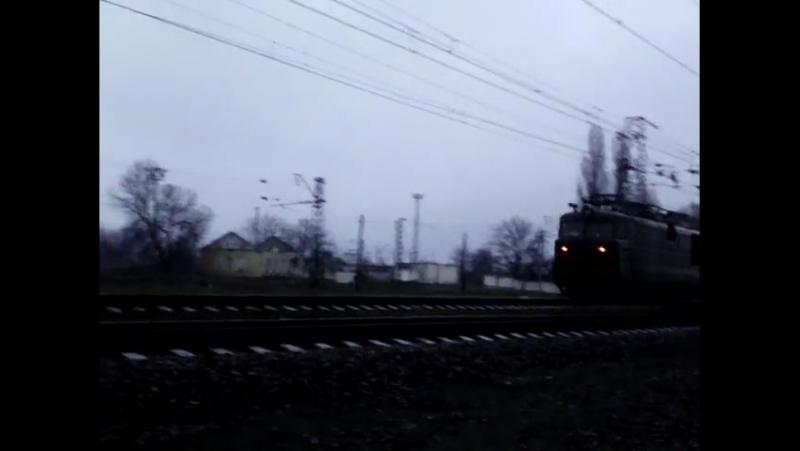 Вл82м-053 ст.Верховцево 1й рейс поезда № 783784 Полтава – Днепропетровск
