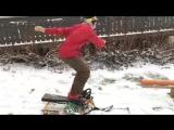 Шикарный трюк на сноуборде
