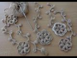 УРОКИ ВЯЗАНИЯ. Усики у цветка с шишечками.Вязание крючком.