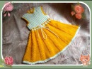 Платье-сарафан для девочки 2 - 3 лет спицы. knitting dress for girls 2-3 years