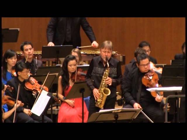 Piazzolla Six Tango Etudes (3 4) Claude Delangle City Chamber Orchestra of Hong Kong