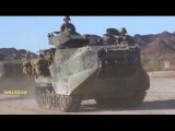 AAV-7A1 на полигоне / Десантно-гусеничная машина-амфибия морской пехоты США