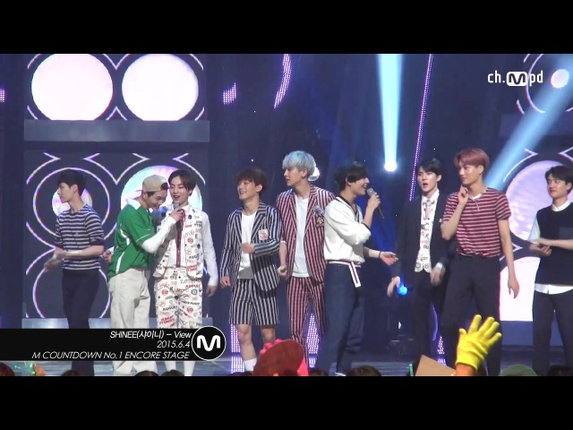 [MPD직캠] 샤이니 1위 앵콜 직캠 with 엑소 View SHINee Fancam No.1 Encore with EXO Mnet MCOUNTDOWN 150604