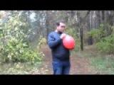 Смешно разговаривает надышавшись с шарика