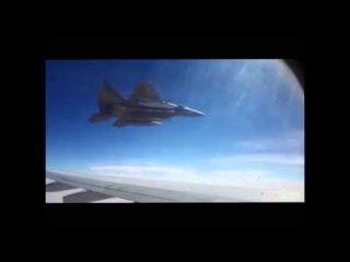 Saudi F 15 Aggressively Escorting Iranian Jet