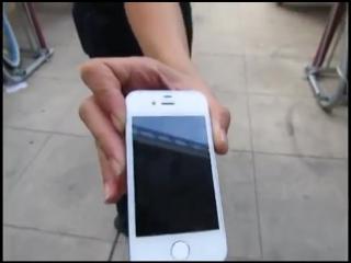 Жосткий дроп-тест закалённого стекла для iPhone