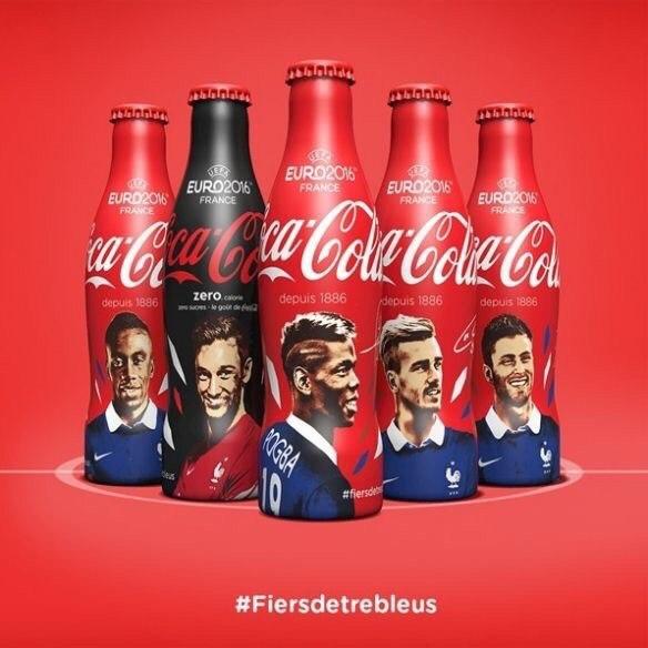 Кока-кола запустит в продажу коллекционную серию напитков, посвященных Евро-2016...