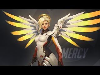 Overwatch - Ангел (Mercy) карта Кингс РОУ (атака) - Овервотч