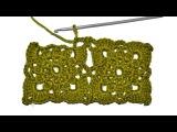 Урок вязания крючком - Безотрывное вязание квадратных мотивов