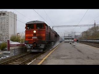 Тепловоз 2ТЭ10УТ-0078 с поездом №389 Новый-Уренгой - Челябинск