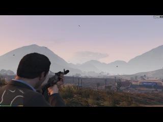 Мистика в GTA 5 - Огромное облако-мутант [Красивое зрелище]