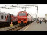 Прибытие ЭП2К-082 с поездом №357/358 Нижневартовск - Самара