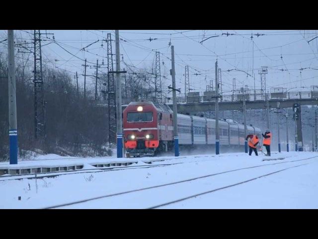 ЭП2К-070 с поездом №7 Екатеринбург - Москва