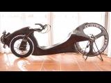 carbon recumbent low racer riding ..