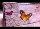 Decoupage tutorial skrzynka w motylki