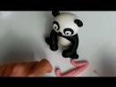 (ТОРТ-РЕЦЕПТ-VK) Панда из мастики, Лепка фигурок из мастики мастер класс, украшение тортов, торт панда, фигурки животных.