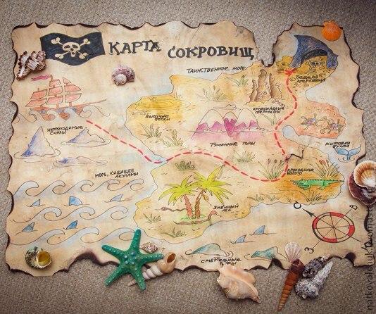 Карта сокровищ для детей