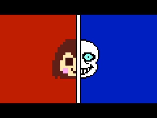 (Chara vs Sans) Stronger Than You Duel Duet (Milkychan djsmell) w/ Lyrics [Undertale Parody]