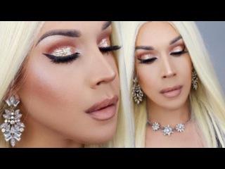 Maquillaje para Año Nuevo | Ojos Brillantes | Labios Nude | Fiestas