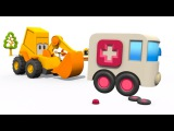 Excavator Max Surprise Eggs 🚑 Ambulance for kids. Children videos & kids cartoons. Car cartoons.