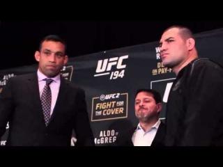 UFC 196: Fabricio Werdum vs. Cain Velasquez Staredown : Фабрисио Вердум против Каина Веласкеса